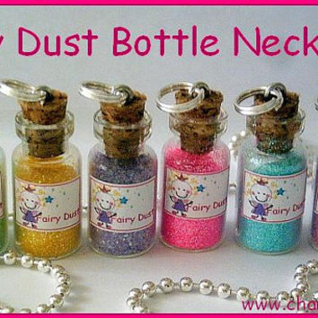 Fairy Dust in a Bottle Necklace by CharmthisClayCharms on Etsy