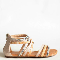 Reptile Goddess Strappy Sandals - $26.50 : ThreadSence, Women's Indie & Bohemian Clothing, Dresses, & Accessories