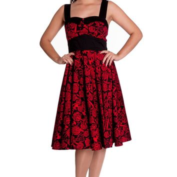 Hell Bunny Rockabilly Wedding Death Do Us Part Red Party Dress