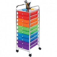 HONEY-CAN-DO CRT-02214 10-Drawer Rolling Storage Cart