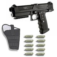 Tippmann TPX Paintball Pistol Gun + Holster + 10 CO2 Cartridges