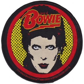 DAVID BOWIE GLAM SHOT PATCH - Housewares