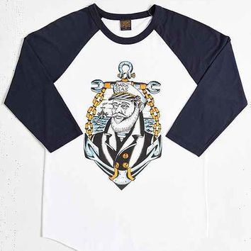 Dark Seas Captain Eye Premium Raglan Tee