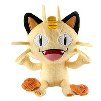"TOMY Pokemon Meowth 7"" Plush Doll  - 2016 Series"