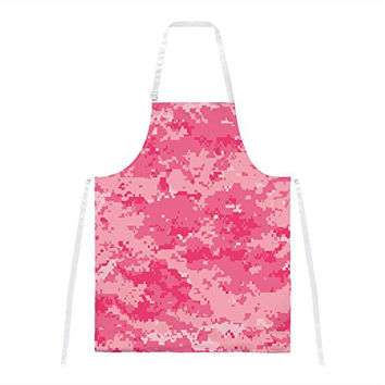 Pink Digital Camo All Over Apron