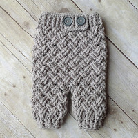 Crochet Pattern for Diagonal Weave Baby Pants - Newborn and 0-6 Months - Welcome to sell finished items