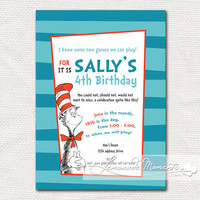Dr Seuss Party Invitation / Printable Cat in by lemonademoments