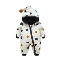 Warm Baby Boy Outerwear Infant Romper Kid Jumpsuit Hooded
