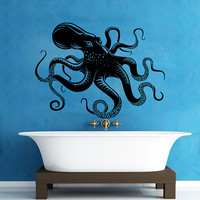 Wall Decals Octopus Decal Vinyl Sticker Bathroom Window Nursery Children Bedroom Hall Home Decor Dorm Interior Art Murals MN514
