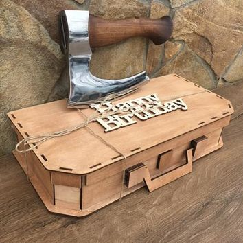 Mens accessories, mens axe, mens valentines gifts, mens clothing, viking axe, hatchet, axe gift, tool lover, mens decor, hand tools, axes