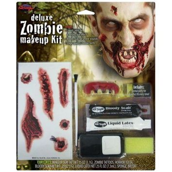 Deluxe Zombie Makeup Kit Costume Makeup Adult Halloween