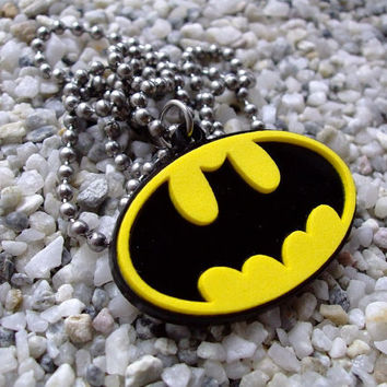 Batman laser cut acrylic pendant necklace or key chain super SALE for this week was 15USD