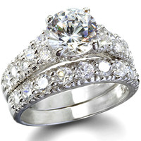 Cubic Zirconia Wedding Ring Sets - Claire's Fancy Faux