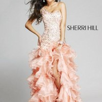 Sherri Hill 3848 Prom Dresses / Pageant Dress Peach size 2 OR 6 NWT