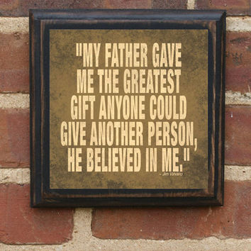 "Father's Day ""Valvano Quote"" Vintage Style Quote Plaque / Sign"