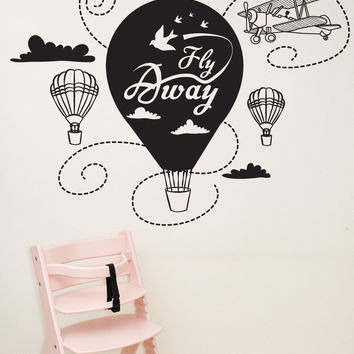 Vinyl Wall Decal Sticker Fly Away Transportation #OS_DC562