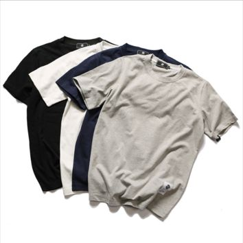 Casual short-sleeved youth popular solid t-shirt