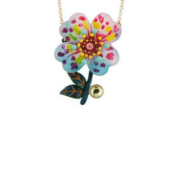 N2 by Les Néréides ENERGETIC BOTANY SPOTTED PINK PRIMROSE NECKLACE