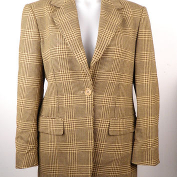 MAX MARA!!! Vintage 1990s 'Max Mara' single breasted woollen two tone tweed jacket  / Made in Italy