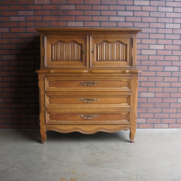 Drexel Heritage Door Chest / Tall Chest / Highboy Dresser