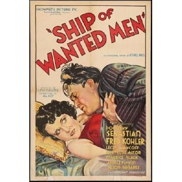 Ship Of Wanted Men Movie poster Metal Sign Wall Art 8in x 12in