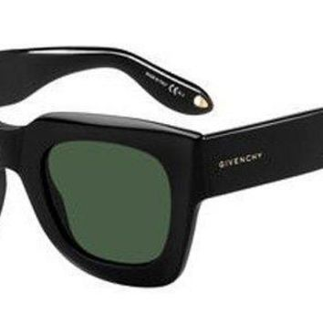 Givenchy - Gv 7061 S Black Sunglasses / Green Lenses