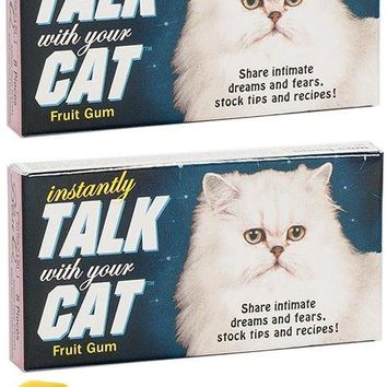 Instantly Talk With Your Cat Gum (Pack of 2)