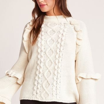 Power Cable Sweater, Oatmeal