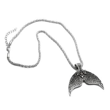 """Silver Mermaid Tail Necklace with 18"""" Chain"""