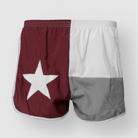 TEXAS FLAG SHORT A&M