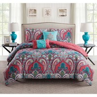 Casa Bohemia Reversible 5PC Duvet Cover Set
