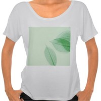 Leaf skeletons on pale green Bella short-sleeve t