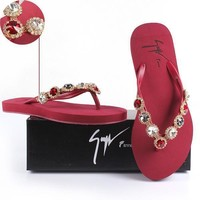 Giuseppe Zanotti Women Rhinestone Slippers Sandals Shoes-2