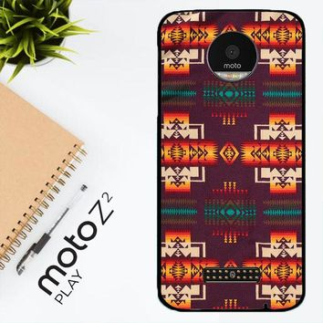 Pendleton Maroon Chief X5090 Motorola Moto Z2 Play Case
