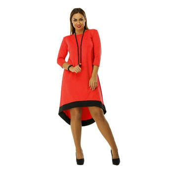 2016 women plus size dress O-Neck Pockets Casual dresses Knee-Length plus size women clothing patchwork bodycon dress