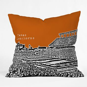 Bird Ave Texas Longhorns Orange Throw Pillow