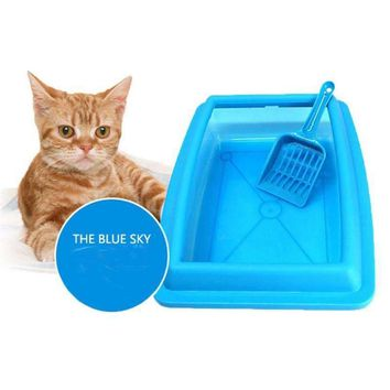 Cat Bedpans Semi Closed Anti-splash Litter Box
