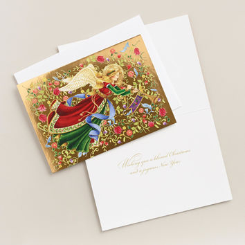 Angelica Boxed Holiday Cards, Set of 15 - World Market