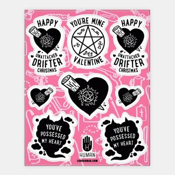 Supernatural Valentine's Day Stickers