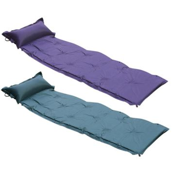 Hot! Sleeping Pad Outdoor Waterproof Camping Mat Can Be Spliced Single Lunch Picnic Leisure Automatic Inflatable Cushion