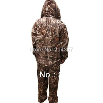 Brown Reed Camouflage Pattern Hunting Clothing for Duck Shooting Game Suits