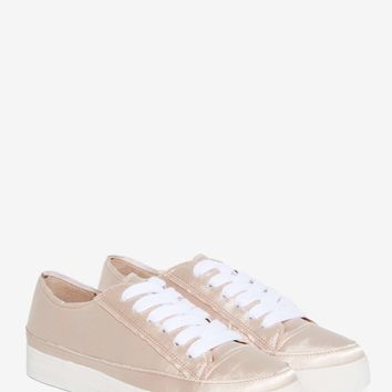 Siren Topic Satin Sneaker - Blush
