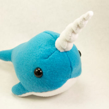 Narwhal Plush in Blue - Large