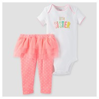 Baby Girls' 2pc Sister Tutu Set - Just One You™ Made by Carter's® Pink/White