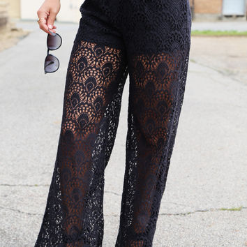 Lady in Crochet Pants {Black}