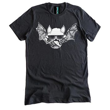 Hunter S. Thompson Psychedelic Bat Dual Blend Shirt