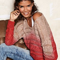 Red & Beige Ombre sweater from VENUS