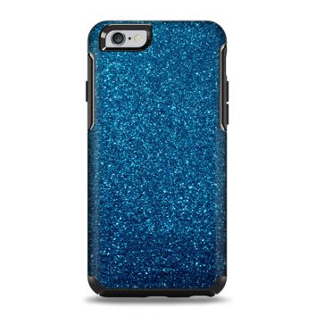 The Blue Sparkly Glitter Ultra Metallic Apple iPhone 6 Otterbox Symmetry Case Skin