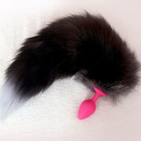 Fetish Fox Tail Length 40CM Silicone Anal Butt Plug Sex toys For Women Men Gay Masturbation Sex Products For Adult Fun Game
