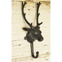 Deer Head Single Wall Hook - Choose Your Color - Colorful Cast and Crew